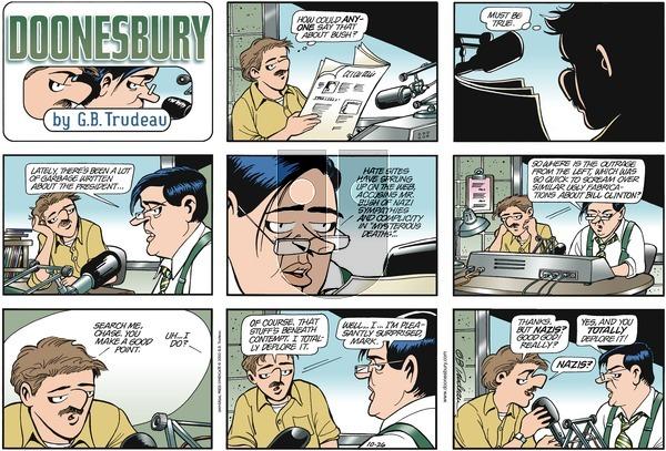 Doonesbury on Sunday October 26, 2003 Comic Strip