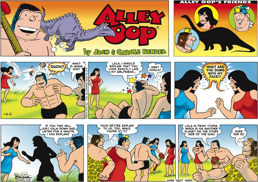 Alley Oop for Jan 8, 2012 Comic Strip