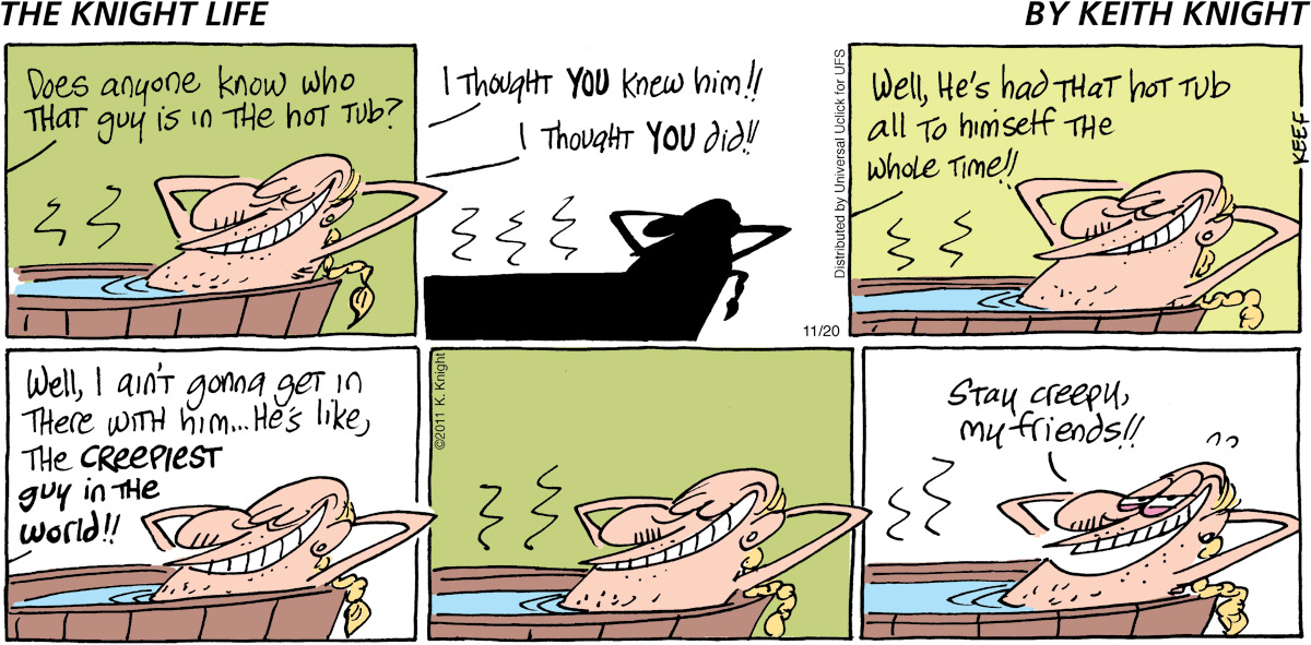 The Knight Life Comic Strip for November 20, 2011