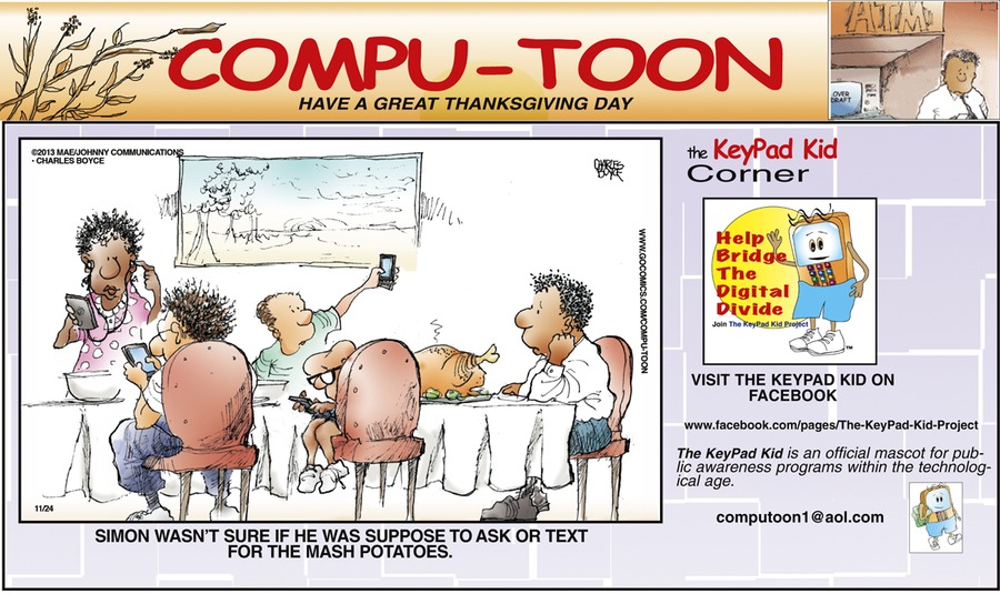 Compu-toon Comic Strip for November 24, 2013