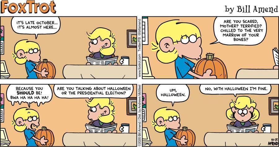 FoxTrot Comic Strip for October 25, 2020