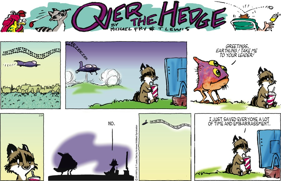 Over the Hedge Comic Strip for February 24, 2019