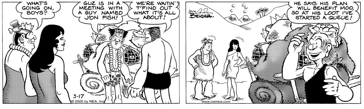 Alley Oop for Mar 17, 2005 Comic Strip