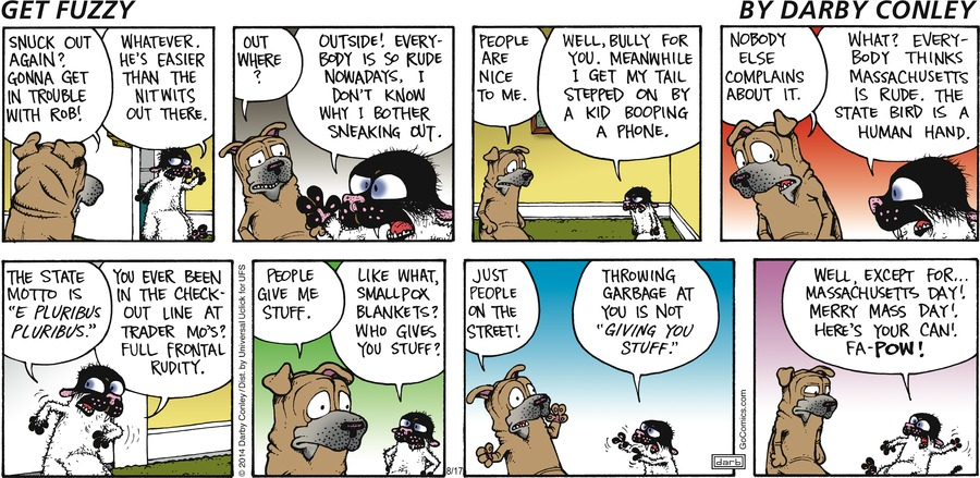 Get Fuzzy Comic Strip for August 17, 2014