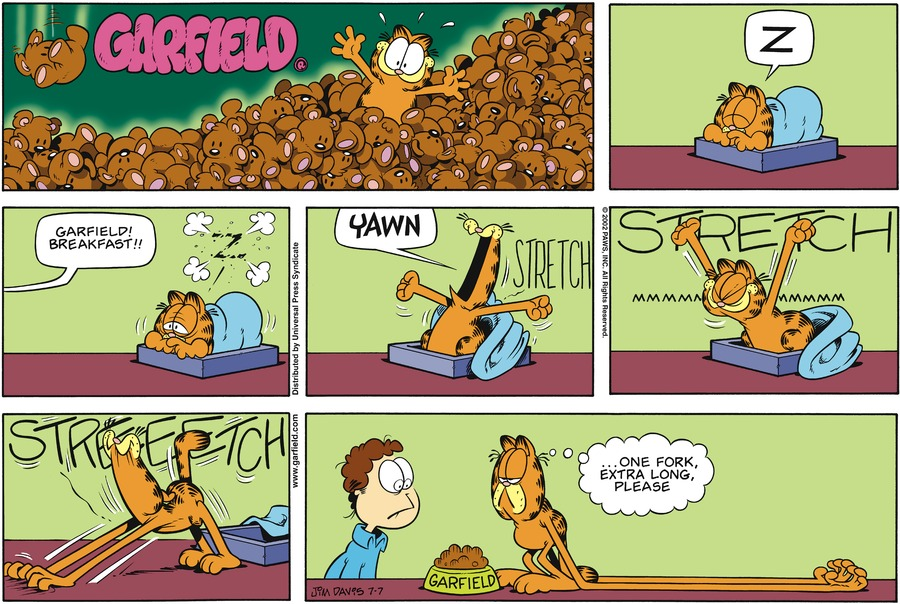 Garfield Comic Strip for July 07, 2002