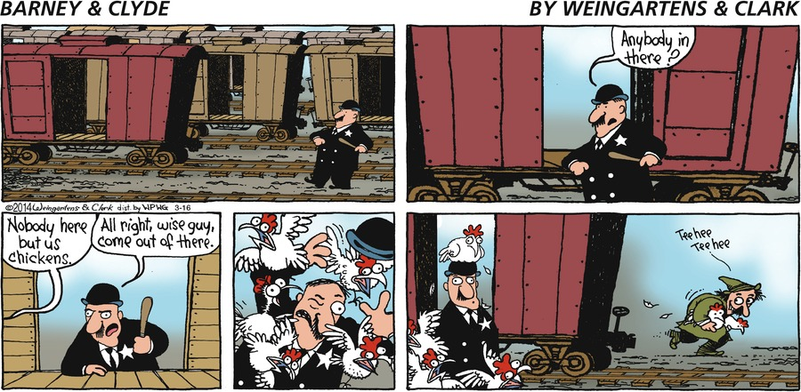 Barney & Clyde for Mar 16, 2014 Comic Strip