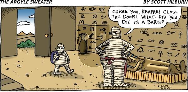 The Argyle Sweater on Sunday February 9, 2014 Comic Strip