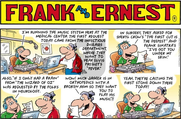 Frank and Ernest on Sunday April 21, 2019 Comic Strip