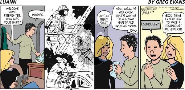 Luann on Sunday February 4, 2018 Comic Strip