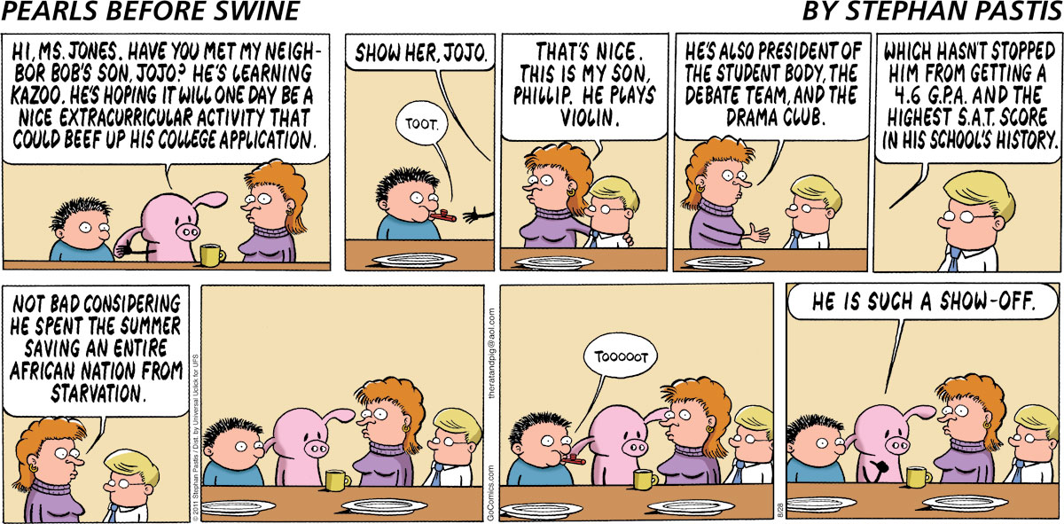 Pearls Before Swine Comic Strip for August 28, 2011
