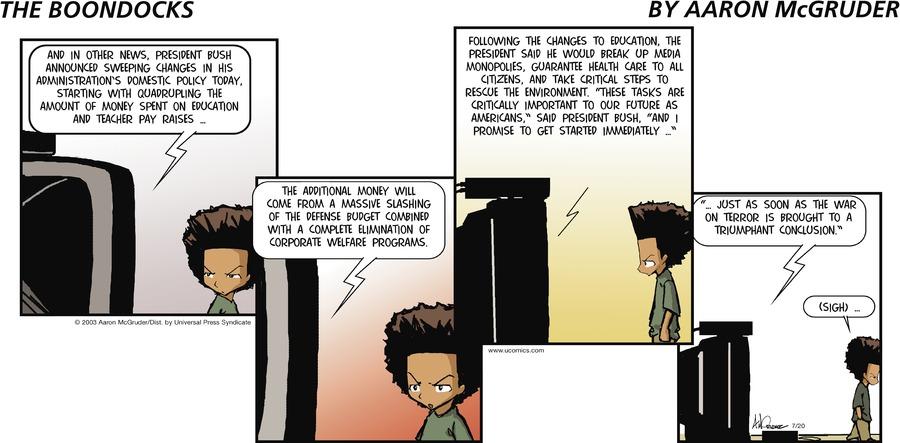 The Boondocks for Jul 20, 2003 Comic Strip