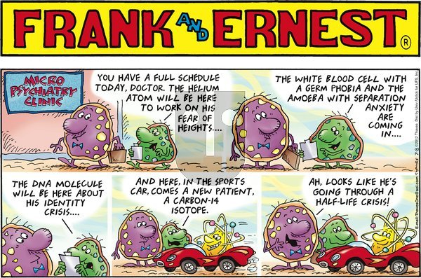 Frank and Ernest on Sunday July 8, 2012 Comic Strip