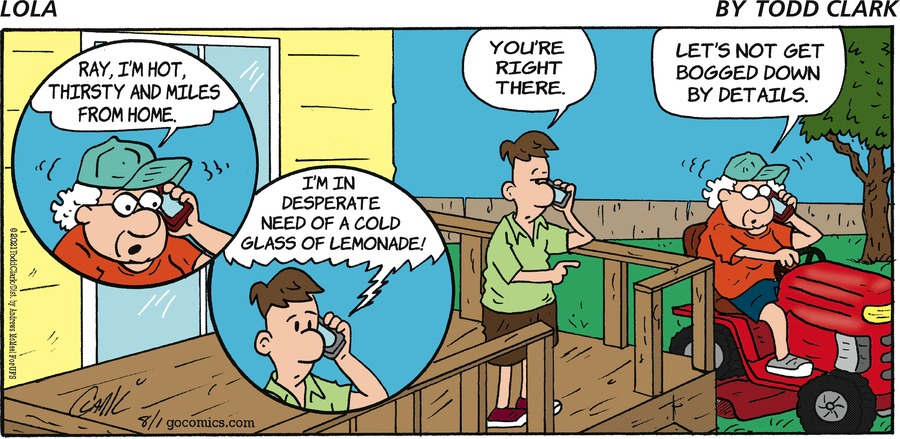 Lola Comic Strip for August 01, 2021