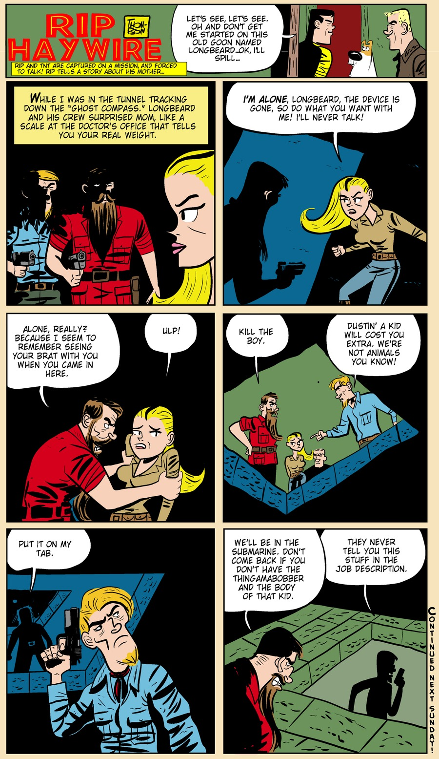 Rip Haywire Comic Strip for July 28, 2013