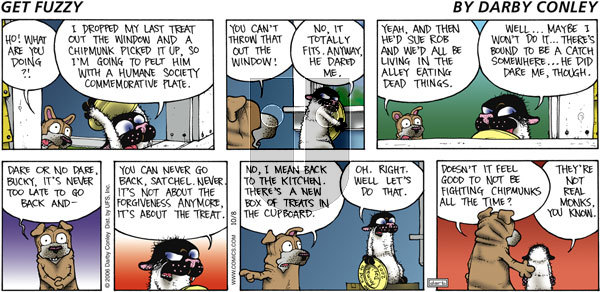 Get Fuzzy on Sunday October 8, 2006 Comic Strip