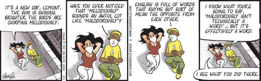 Candorville Comic Strip for January 21, 2021