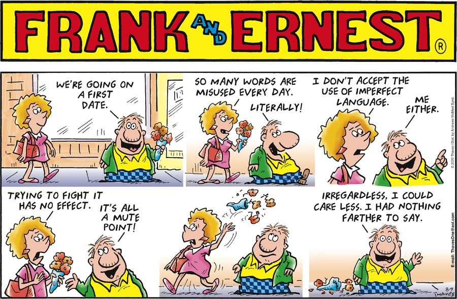 Frank and Ernest Comic Strip for August 09, 2020