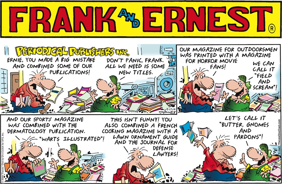 Frank and Ernest for Aug 17, 2014 Comic Strip