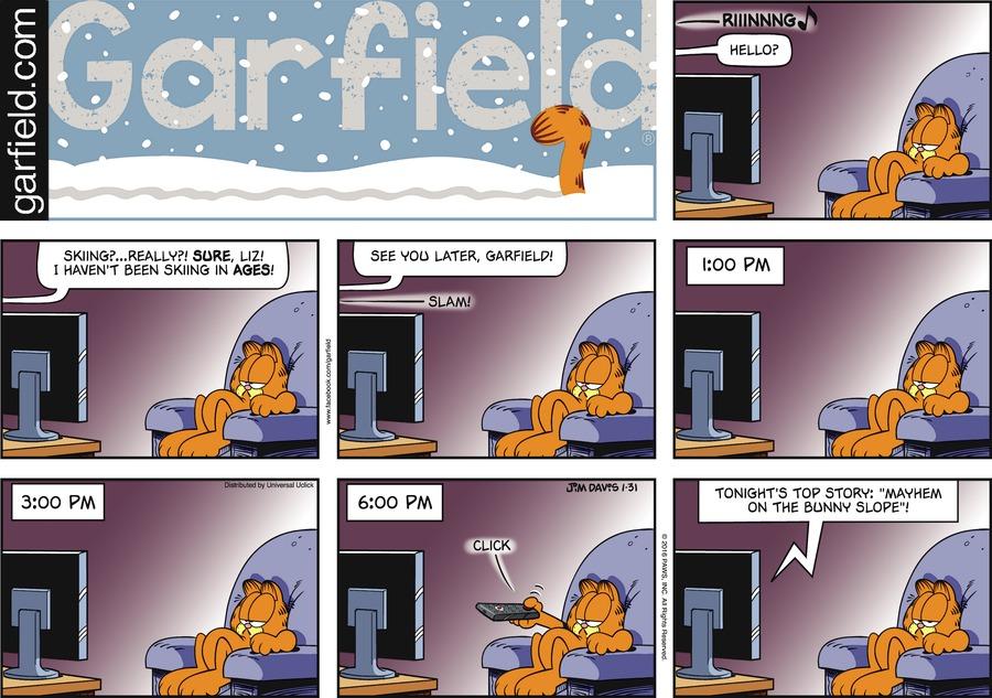 Garfield Comic Strip for January 31, 2016