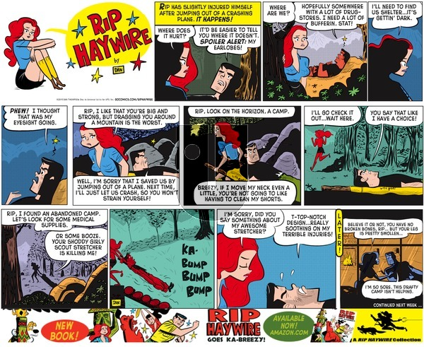 Rip Haywire on Sunday April 26, 2015 Comic Strip