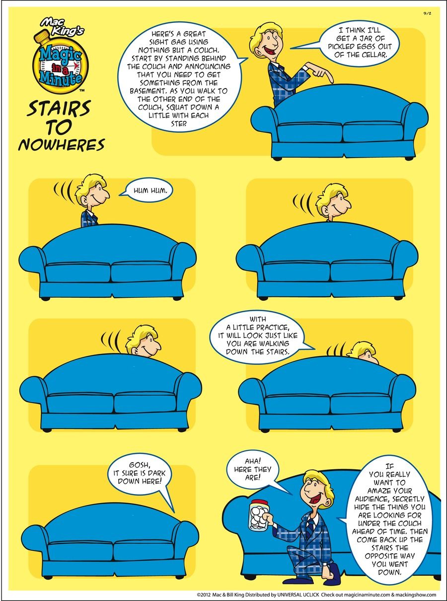 Magic in a Minute Comic Strip for September 02, 2012