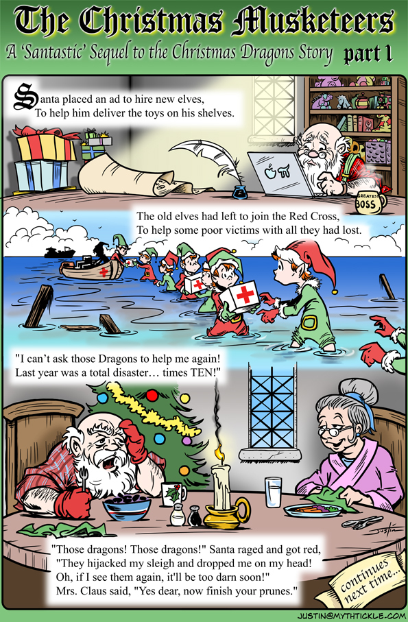 MythTickle for Dec 13, 2013 Comic Strip