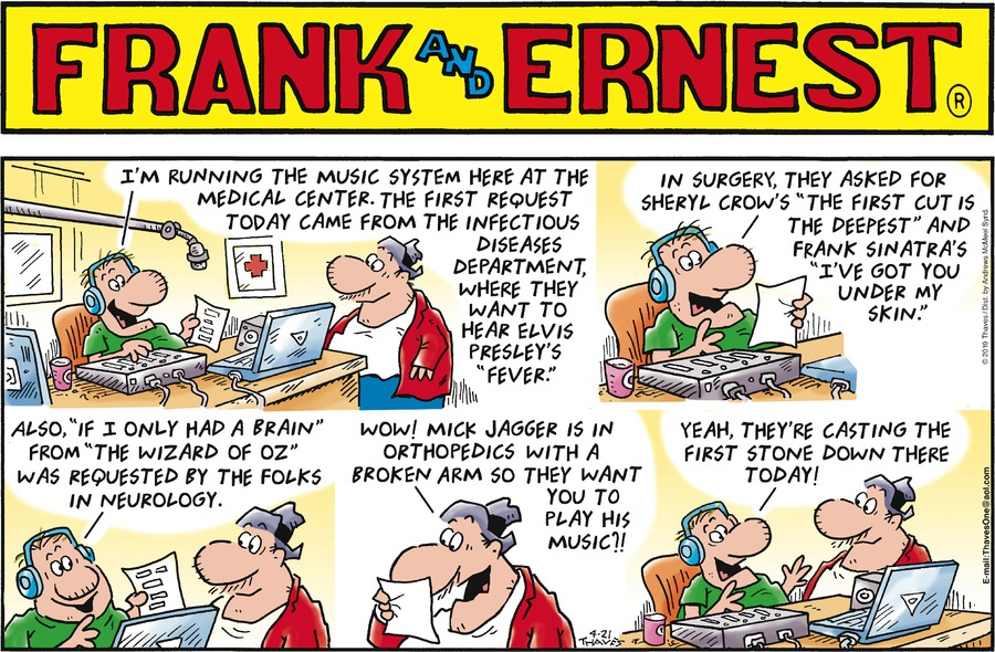 Frank and Ernest Comic Strip for April 21, 2019