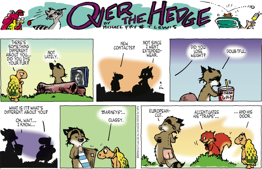 Over the Hedge for Sep 22, 2013 Comic Strip