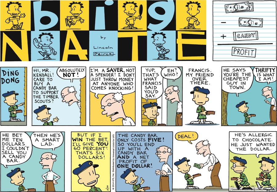 Big Nate Comic Strip for May 04, 2014