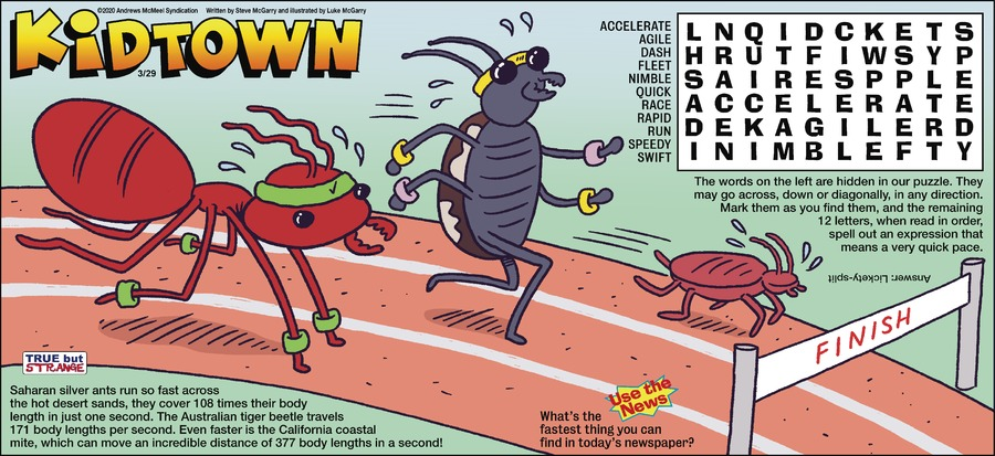 KidTown Comic Strip for March 29, 2020