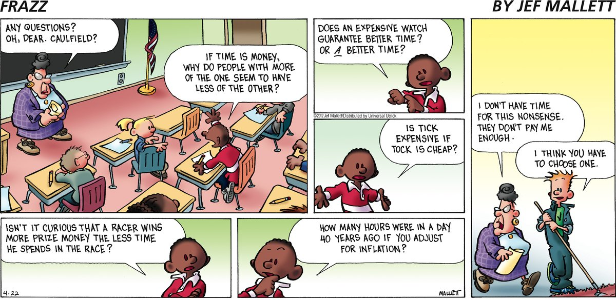 Frazz Comic Strip for April 22, 2012