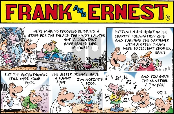 Frank and Ernest on Sunday October 1, 2017 Comic Strip
