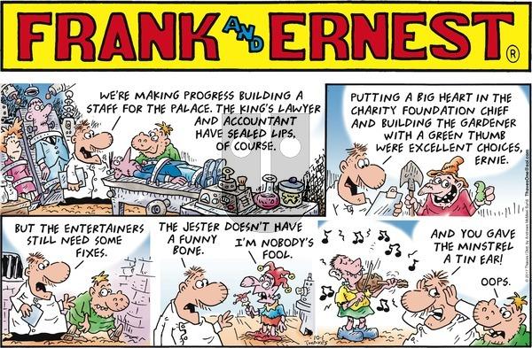 Frank and Ernest on Sunday October 1, 2017 Comic Strip