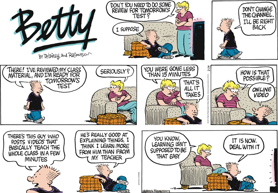 Betty Comic Strip for February 24, 2013