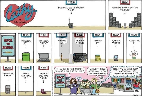 Cathy Classics on Sunday September 9, 2007 Comic Strip