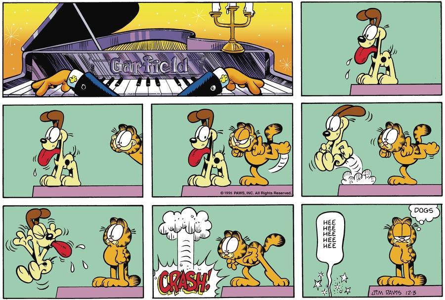 Garfield Comic Strip for December 03, 1995