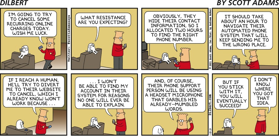 Recurring Charges - Dilbert by Scott Adams