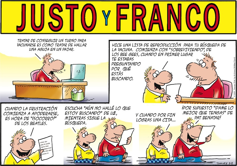Justo y Franco by Thaves on Sun, 02 May 2021