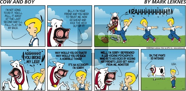 Cow and Boy Classics on Sunday October 5, 2008 Comic Strip