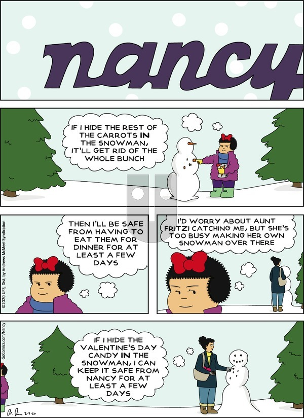 Nancy - Sunday February 9, 2020 Comic Strip