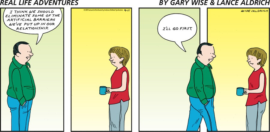 Real Life Adventures Comic Strip for April 11, 2021