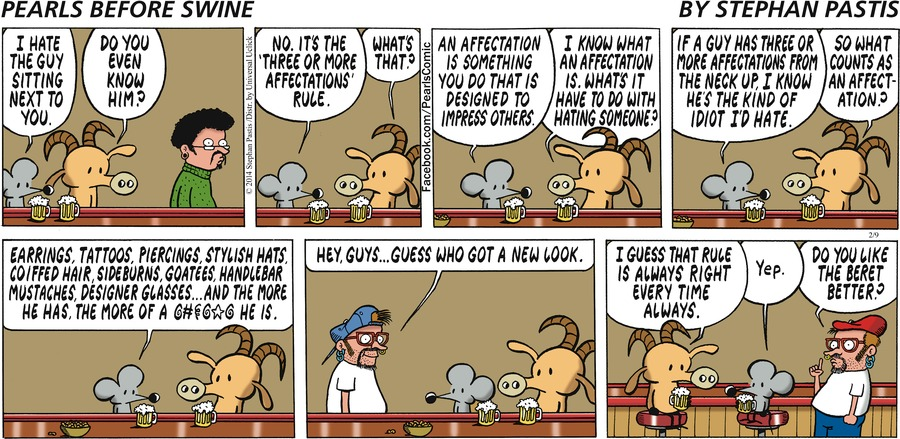 Pearls Before Swine for Feb 9, 2014 Comic Strip