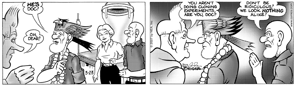 Alley Oop Comic Strip for March 23, 2007