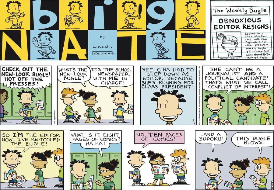 Big Nate Comic Strip for September 19, 2021