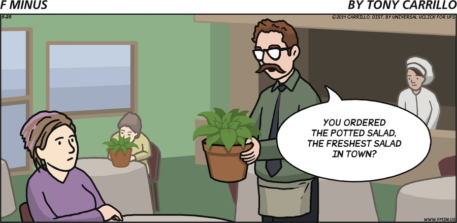 F Minus Comic Strip for May 25, 2014