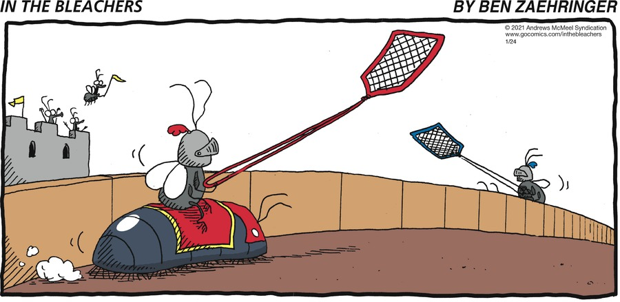 In the Bleachers Comic Strip for January 24, 2021