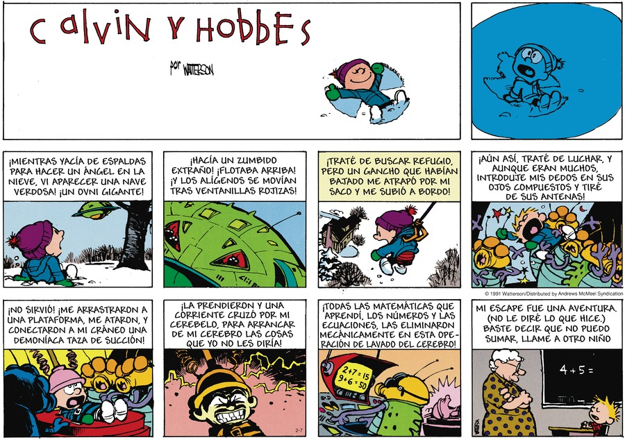 Calvin and Hobbes en Español by Bill Watterson on Sun, 07 Feb 2021