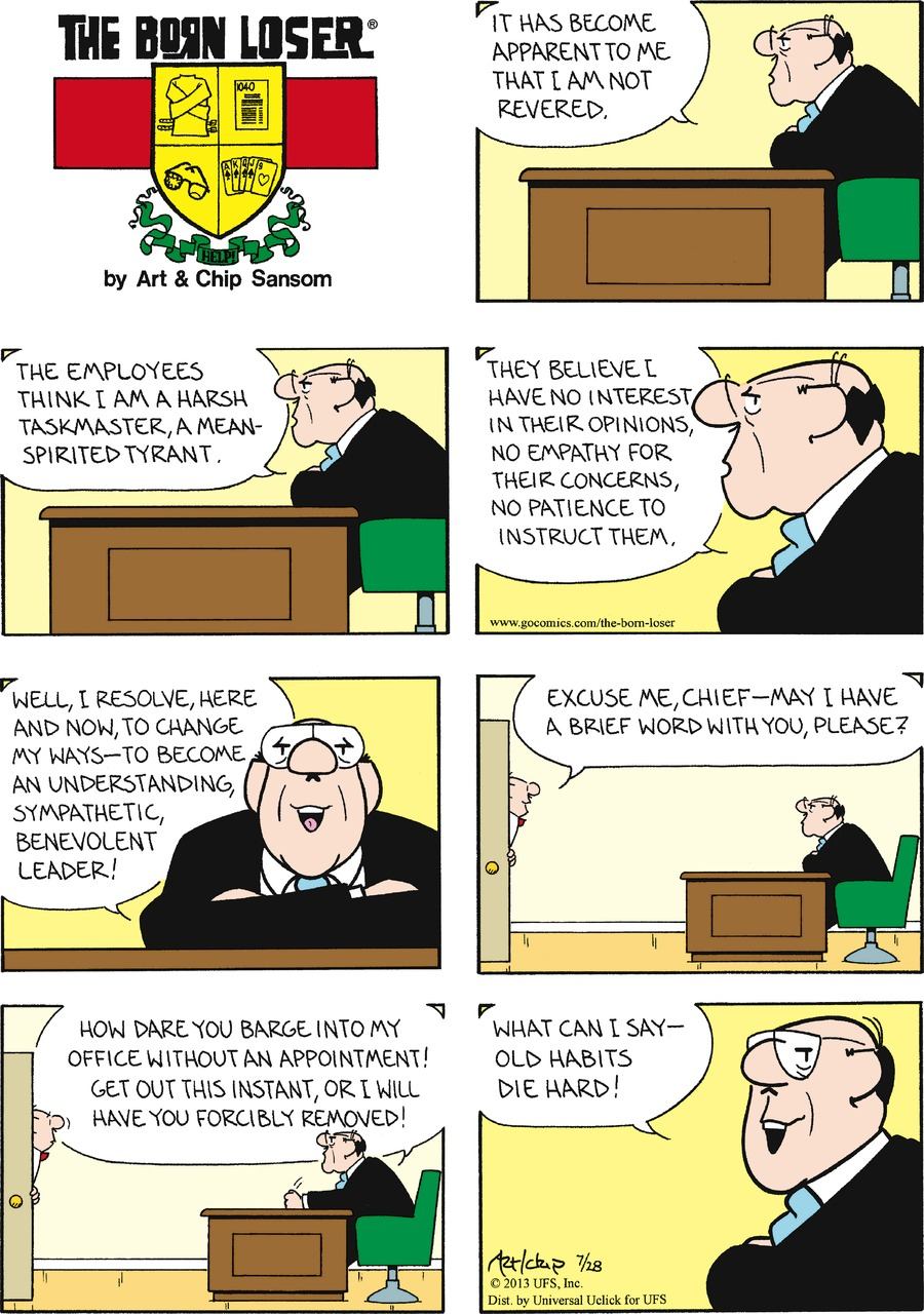 The Born Loser for Jul 28, 2013 Comic Strip