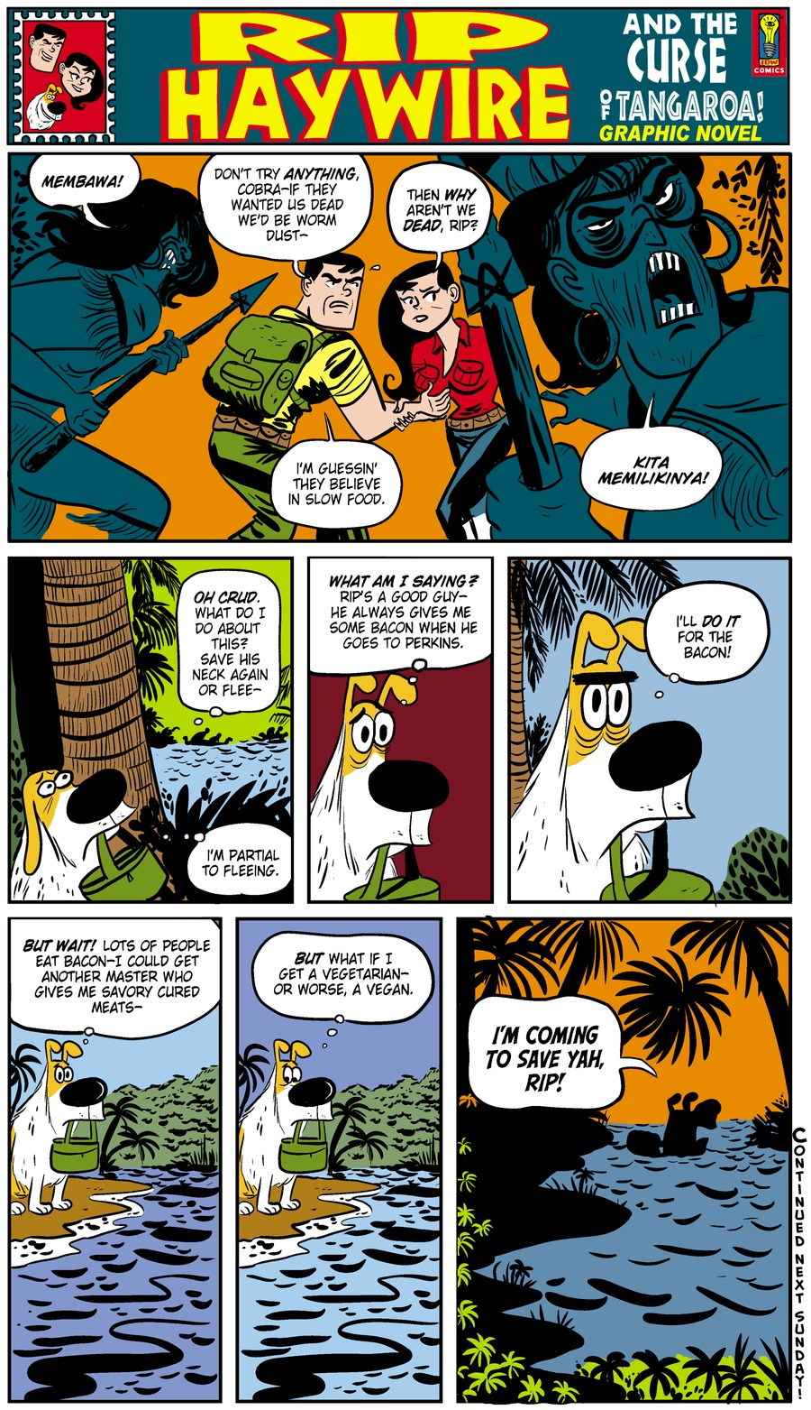 Rip Haywire Comic Strip for January 12, 2014