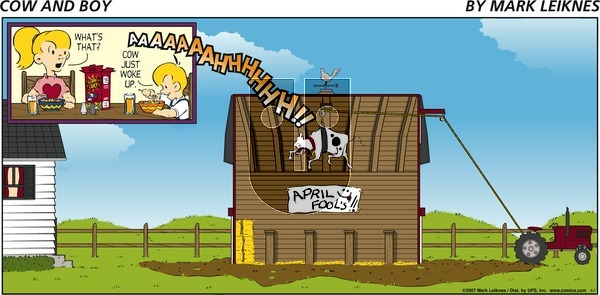 Cow and Boy Classics on Tuesday May 11, 2021 Comic Strip
